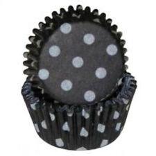Black & White Polka Dots - Mini Baking Cupcake Liners - 100 Count
