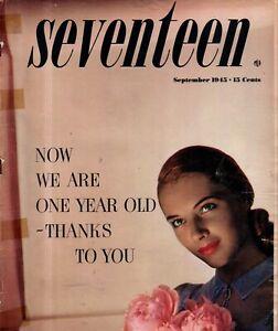 1945 Seventeen September - Hoagy Carmichael; Country and classroom fashions;