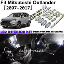 9x White LED Interior Lights Package Kit For 2007 - 2017 Mitsubishi Outlander