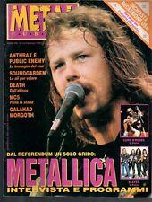 METAL SHOCK N°114/1992 METALLICA ANTHRAX SLAYER  DEATH GALAHAD MORGOROTH