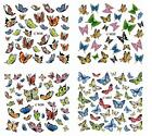 Butterfly 3D Nail Art Sticker Decal Decoration Manicure Water Transfer