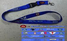 Ford Racing,  Mustang, XR6,Raptor, Tickford, Fairlane, F150,  Red Logo Lanyard