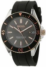 Hugo Boss Ocean Edition 43mm Gunmetal Dial Black Rubber Men's Watch 1513558 SD