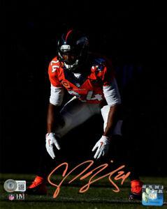 Champ Bailey Autographed/Signed Denver Broncos 8x10 Photo BAS 32848