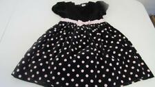Gymboree Tres Fabulous Christmas Black Dress Pink Polka Dots Size 5T EUC TL13