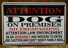 "Metal Attention Warning Dog Sign For FENCE ,Beware Of Dog 8""x12"""