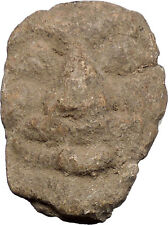 400-300BC Ancient Greek Lead Gorgoneion Medusa Head Aegis of Protection i49314