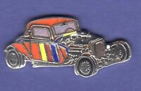 HOT ROD RED CAR HAT PIN LAPEL PIN TIE TAC ENAMEL BADGE #1442