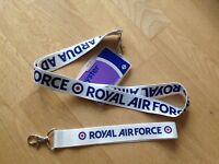 RAF lanyard + keyring + ID holder Royal Air Force British Army gift badge