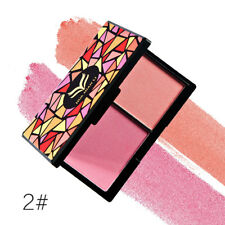 HuaMianLi Cosmetic Matte Shimmer Blush Powder Duo Blusher 3 Color for Choose