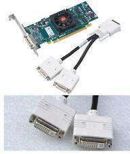 DUAL HEAD GRAFIKKARTE 512MB ATI HD5450 PCIe DHf.2x DVI MONITORE F.WIN 7 8 10 G30