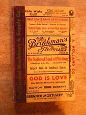 1955 PITTSBURG KS KANSAS DIRECTORY city PHONE BOOK POLKS OLD GENEALOGY ancestry