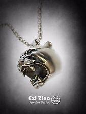 Ezi Zino jaguar puma panther head pendant solid sterling silver 925