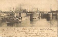 WARRINGTON LATCHFORD LOCKS MANCHESTER SHIP CANAL pu 1902