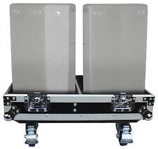 "ProX X-QSC-K8 Black Hard Travel Flight Case For 2 QSC K8 8"" DJ Speakers W/Wheels"
