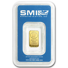 1 gram Gold Bar - Sunshine Minting New Design (In Tep Packaging) - Sku #83063