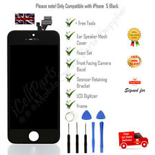 Apple iPhone 5 Black LCD OEM Screen and Digitizer Assembly With Frame + Tools
