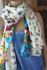 pieces *Halstuch * Blütenrausch Blütenmeer * Weiß Bunt Colourful * Cute * Access