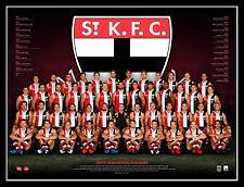 2017 AFL Official St Kilda Saints Team Print Framed - Riewoldt Armitage Stevens