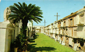 New Orleans, Louisiana, Old St. Louis Cemetery - Postcard (B18)