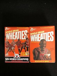 2 Bx 1991 Nba Champion Chicago Bulls Michael Jordan Basketball Wheaties Team Box