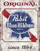 "Pabst Blue Ribbon Beer Rustic Retro Metal Sign 8"" x 12"""