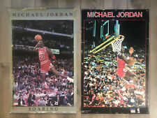 2 Original 80s StarLine Michael Jordan Posters—Gray Border / Black Border
