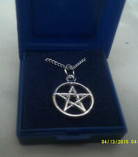 "COSTUME JEWELLERY silver colour chain  sz 17"" with celtic wicca pagan boxed"