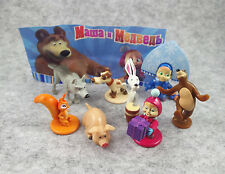 8pcs/set Masha and The Bear character mini figures set Toy gift Collection