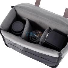 Gray Shockproof Camera Insert Partition Padded Bag Fit DSLR SLR Lens