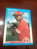 1987 Fleer Baseball #204 Barry Larkin RC {ROOKIE}  HOF