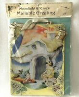 Rene Cloke Fairy Toad Stool House Art Nouveau Wood Wall Plaque Hanging Postcard
