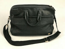 Genuine Dunhill Black Leather Briefcase Men's