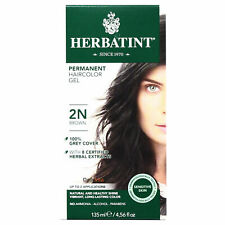Herbatint Permanent Herbal Hair Color Gel, 2N Brown, 4.56 Ounce