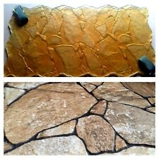 """POLYURETHANE Stamps texture Mat for printing concrete cement plaster """"Stones"""""""