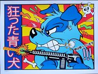 Blue Dog Art Print 2020 Frank Kozik P/P Edition Beastie Boys