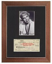 DORIS DAY   AUTHENTIC ORIGINAL EARLY HAND SIGNED CHEQUE 1986 MOUNTED DISPLAY