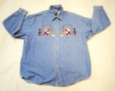 Christmas Women's Plus Denim Long Sleeve Shirt by Quizz Cats Size 22 Used