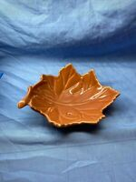 Brown Oak Leaf Shape Candy Or Relish Dish From Living Quarters Harvest 2 Inch