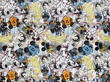 Rare! DJ Mickey Mouse Disneyland Walt Disney World Cotton Fabric 1M x 150cm