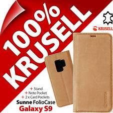 Krusell Sunne GENUINE LEATHER Wallet Stand Flip Case Cover for Samsung Galaxy S9