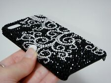Black White Swirl Bling Made with Swarovski Crystal Luxury Diamond Case iPhone X