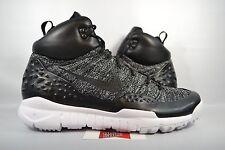 NEW Nike Lupinek Flyknit ACG OREO BLACK WHITE WINTER BOOTS 862505-001 sz 11