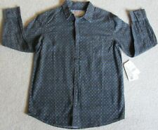 Boys Shirt Jachs Mfg Co Size 12 Printed Button-Front Shirt - Long Sleeve Nwt