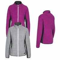 Trespass Liggins Womens Fleece Camping Hiking Jumper In Grey & Purple