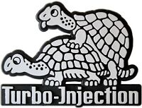 Turtle Auto Emblem Relief 3D Schild TURBO-INJECTION HR Art. 4926 Schildkröte