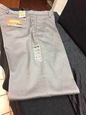 NWT DOCKERS ALL DAY KHAKI CLASSIC FIT FLAT FRONT DRESS PANTS W33 L30 GREY