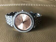 New Michael Kors MK3218 Darci SS Bling Bezel + Bracelet  39mm Watch