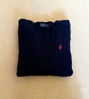 BEAUTIFUL WOMENS RALPH LAUREN CABLE KNIT JUMPER SIZE XS EXTRA SMALL