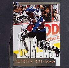 PATRICK ROY  1997/98  LEAF  Gamers   #187  Colorado Avalanche  Montreal   HOF